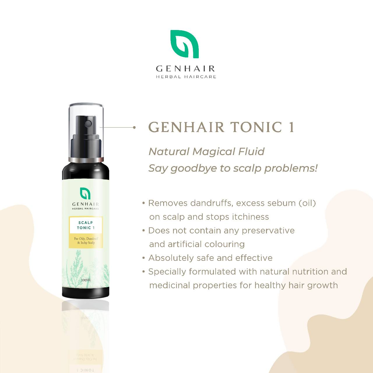 Genhair herbal scalp problem rescue Tonic 1