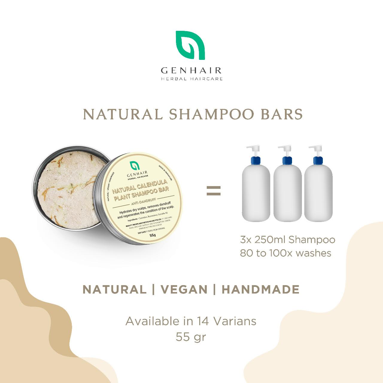 Natural Organic Shampoo Bar for hair loss growth