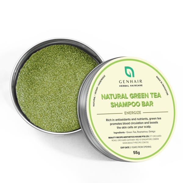 Natural Organic Green Tea Shampoo Bar