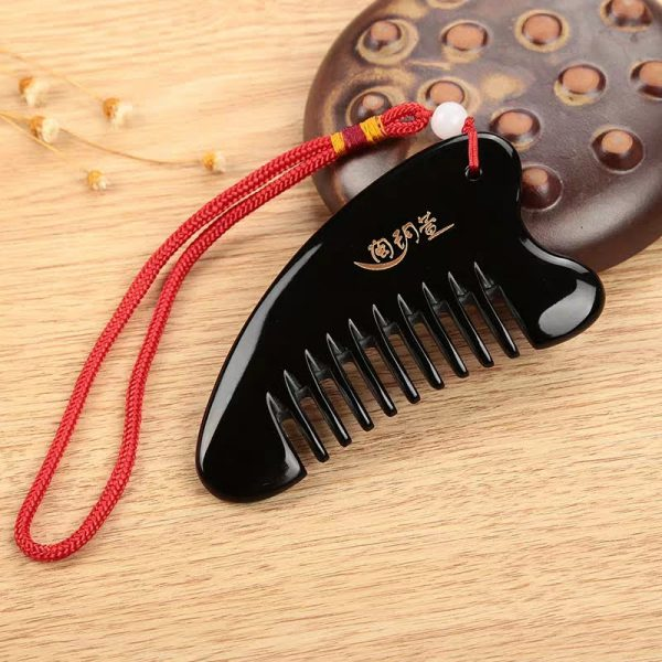Ox Horn Comb for Anti-Hairloss Meridian Scalp Massage