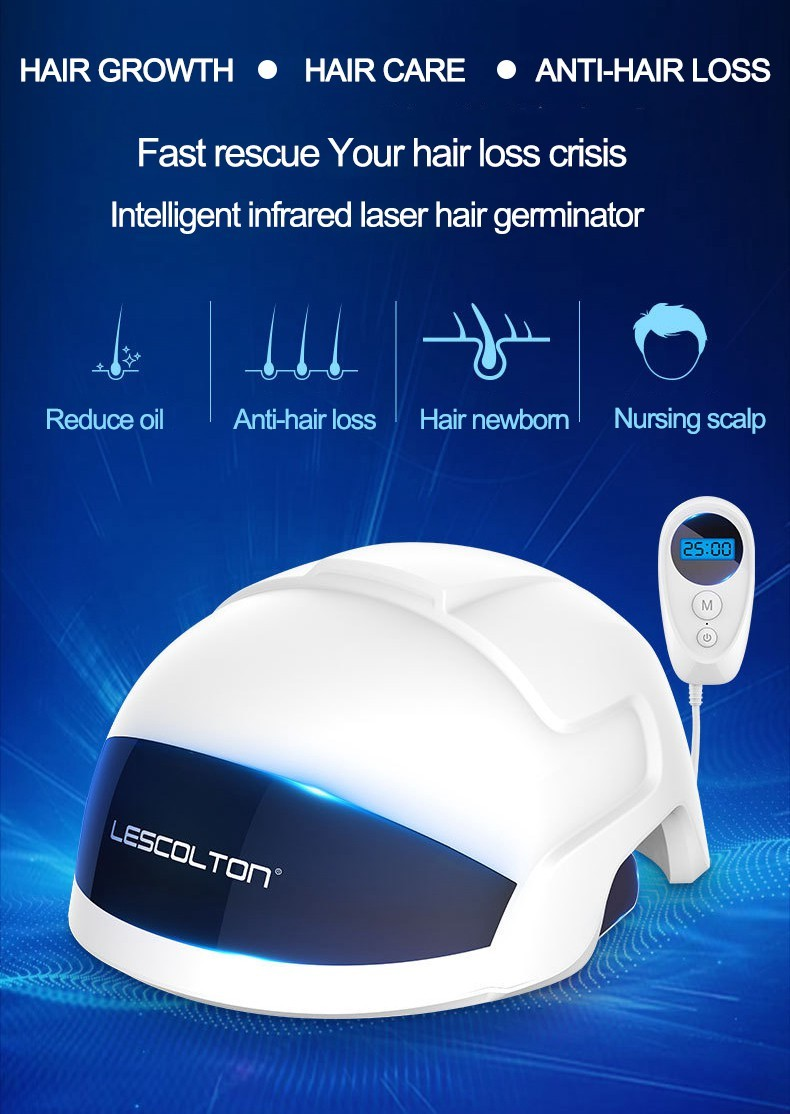 Laser 650nm Diodes Helmet Cap Hair Loss Therapy Machine for hair growth