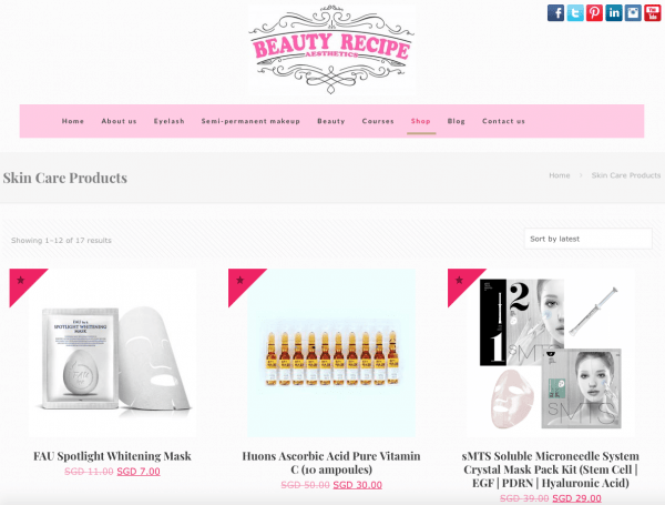 beauty products supplies distribution link