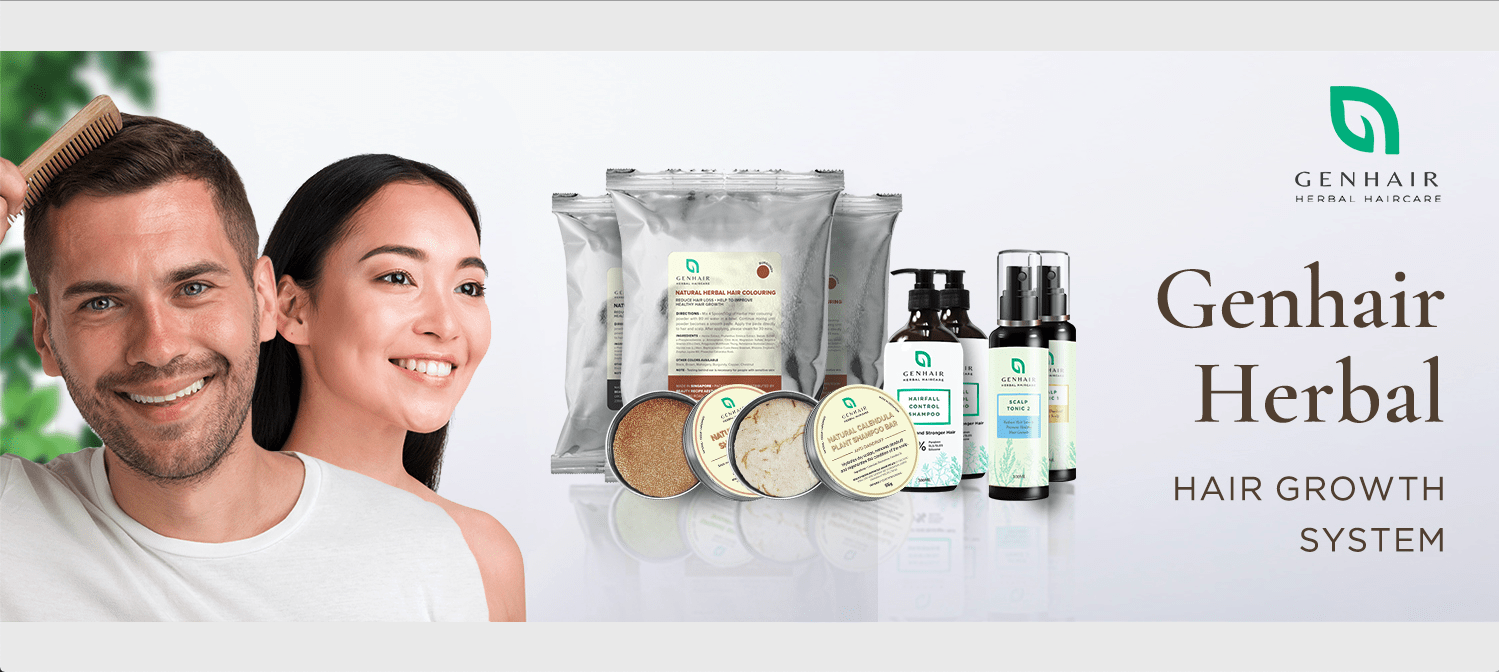 genhair herbal haircare banner