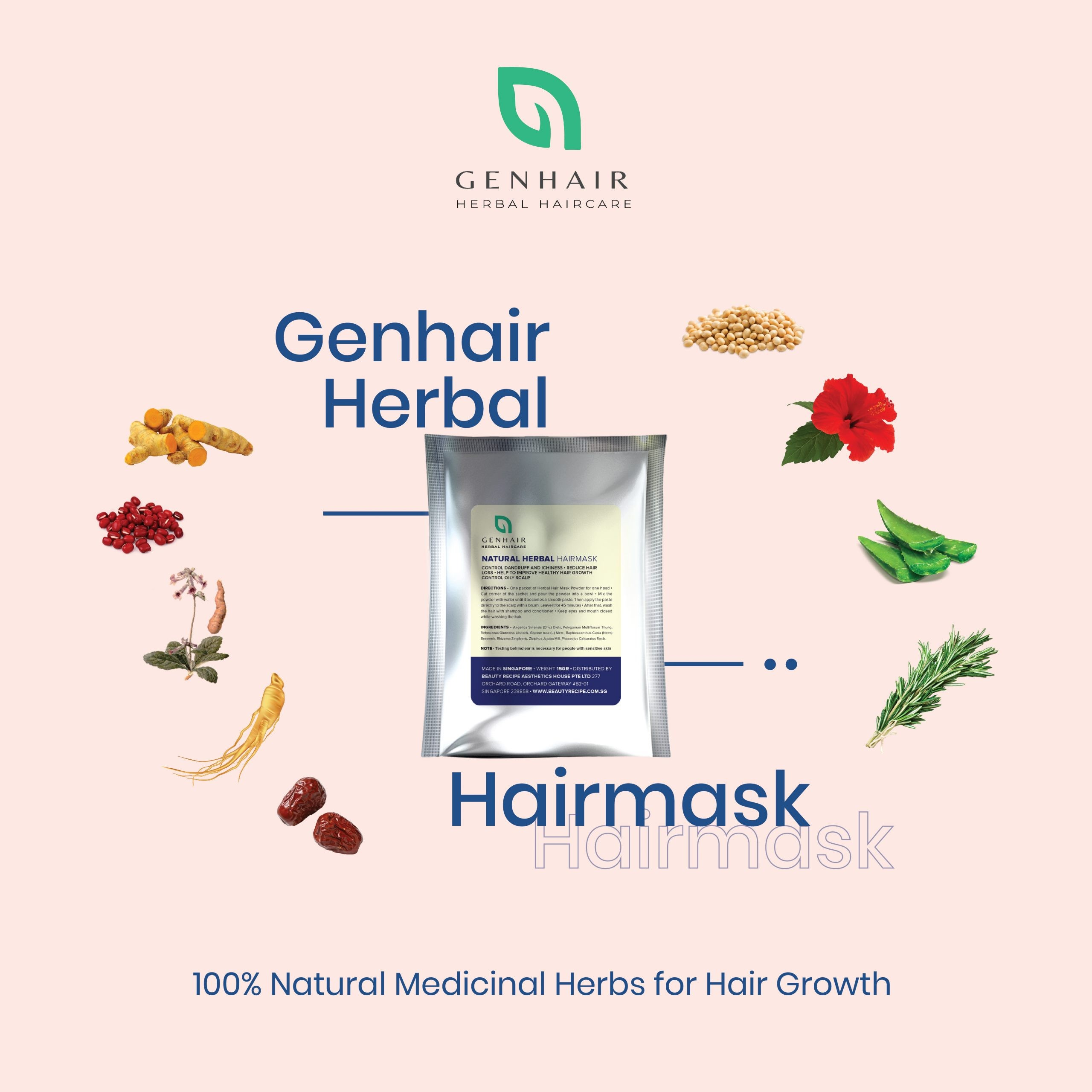 herbal hair scalp mask hair loss grow hair