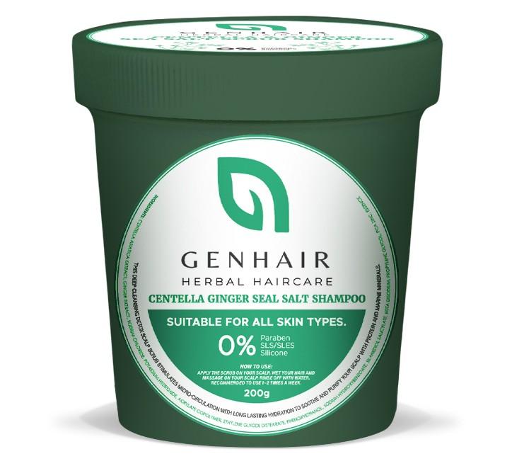 GENHAIR Centella & Ginger Sea Salt Scalp Scrub Shampoo